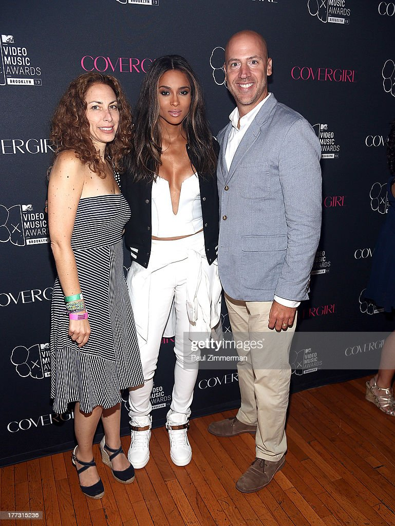SVP of Integrated Marketing for MTV Rachel Baumgarten, Ciara and EVP Integrated Marketing, Viacom Media Networks, Music and Entertainment Dario Spina attend Easy, Breezy, Brooklyn hosted by Becky G and presented by MTV and COVERGIRL at Music Hall of Williamsburg on August 22, 2013 in the Brooklyn borough of New York City.