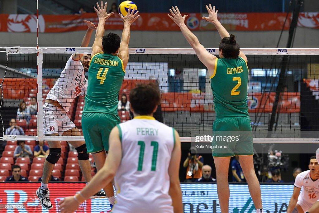 XXX #XX of Iran/Australia XXX during the Men's World Olympic Qualification game between Iran and Australia at Tokyo Metropolitan Gymnasium on May 28, 2016 in Tokyo, Japan.