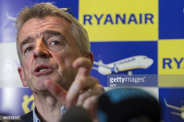 CEO of Irish budget airline Ryanair Michael O'Leary gives a press conference on January 22 2014 in Brussels AFP PHOTO/BELGA PHOTO KRISTOF VAN ACCOM