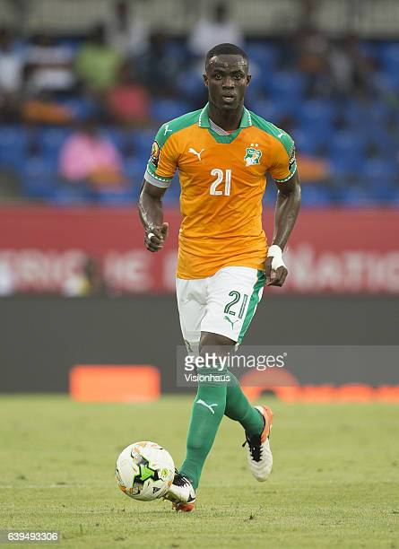 BAILLY of Ivory Coast during the Group C match between Ivory Coast and DR Congo at Stade Oyem on January 20 2017 in Oyem Gabon