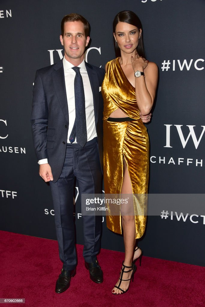 CEO of IWC Christoph Grainger-Herr and Victoria's Secret model Adriana Lima attend the 5th Annual IWC Schaffhausen Tribeca Film Festival 'For The Love Of Cinema' Gala at Spring Studios on April 20, 2017 in New York City.