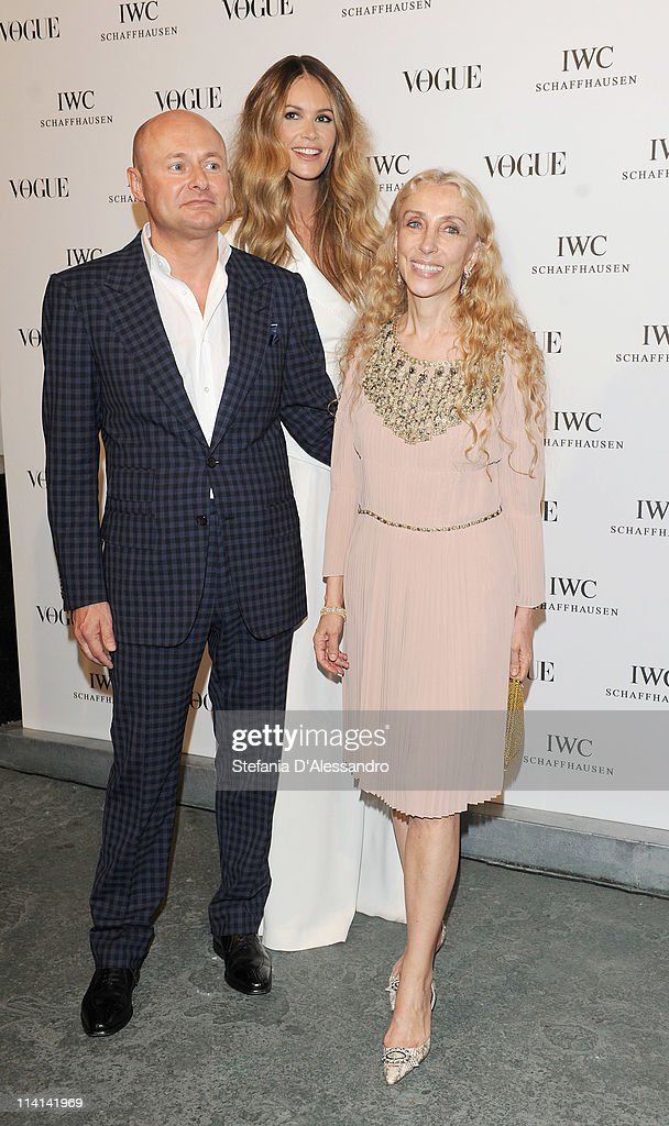 CEO of IWC Georges Kern, Elle Macpherson and Franca Sozzani attend Vogue and IWC present 'Peter Lindbergh's Portofino' at 10 Corso Como on May 12, 2011 in Milan, Italy.