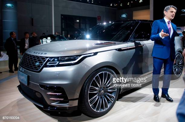 CEO of Jaguar Land Rover Ralf Speth speaks during the first day of the 17th Shanghai International Automobile Industry Exhibition in Shanghai on...