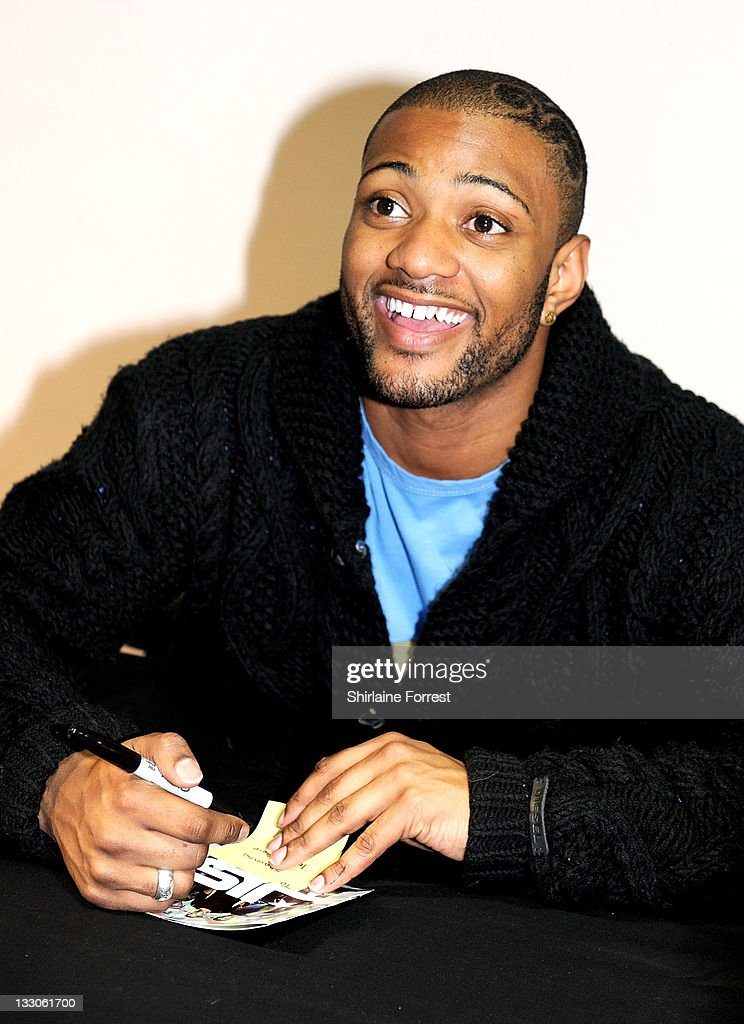 JB of JLS meets fans and signs copies of their new album 'Jukebox' at HMV on November 16, 2011 in Manchester, England.
