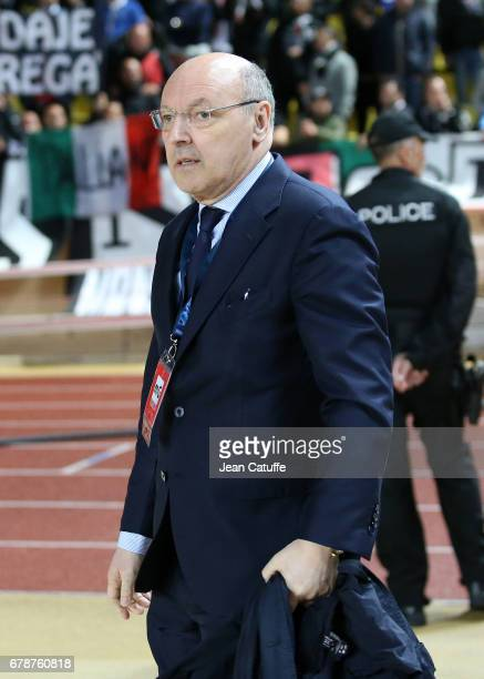 CEO of Juventus Giuseppe Marotta attends the UEFA Champions League semi final first leg match between AS Monaco and Juventus Turin at Stade Louis II...