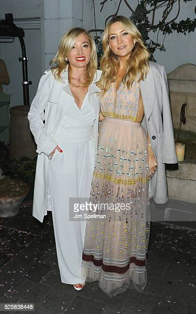 CEO of Lands' End Federica Marchionni and actress Kate Hudson attend the after party for the screening of Open Road Films' 'Mother's Day' hosted by...