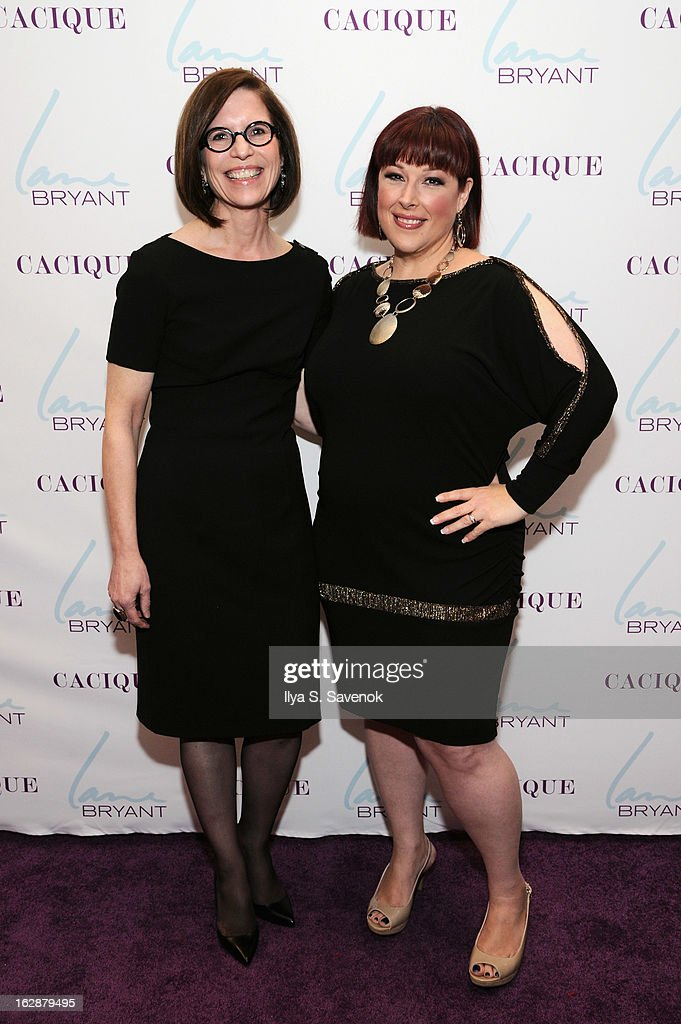CEO of Lane Bryant Linda Heasley and Singer/TV host Carnie Wilson attend Carnie Wilson & Jay Manuel Celebrate Lane Bryant's NYC Flagship on February 28, 2013 in New York City.