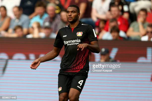 of Leverkusen is seen during the Bundesliga match between Bayer 04 Leverkusen and TSG 1899 Hoffenheim at BayArena on August 26 2017 in Leverkusen...