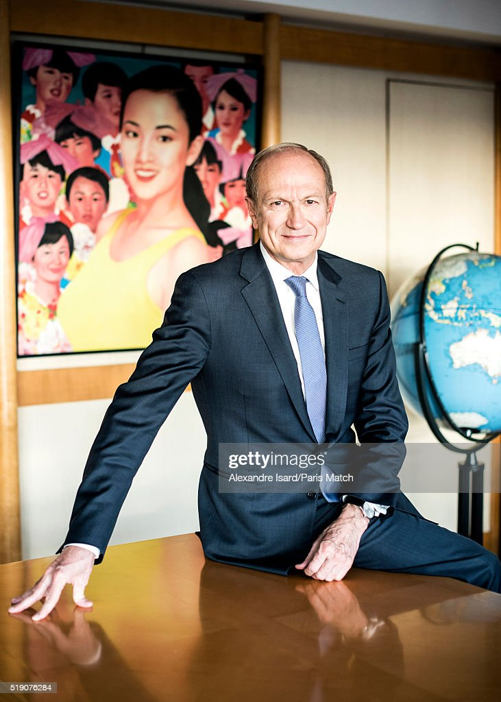 CEO of L'Oreal <a gi-track='captionPersonalityLinkClicked' href=/galleries/search?phrase=Jean-Paul+Agon&family=editorial&specificpeople=675160 ng-click='$event.stopPropagation()'>Jean-Paul Agon</a> is photographed for Paris Match on March 22, 2016 in Clichy, France.