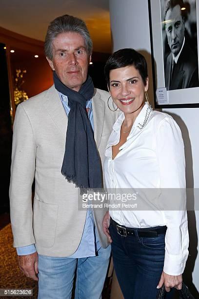 CEO of Lucien Barriere Group Dominique Desseigne and TV Host Cristina Cordula attend the Cocktail following the Premiere of 'Five' Laureat Du Prix...