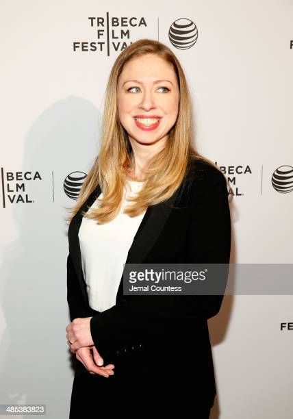 'Of Many' executive producer Chelsea Clinton attends the Shorts Program City Limits during the 2014 Tribeca Film Festival at AMC Loews Village 7 on...