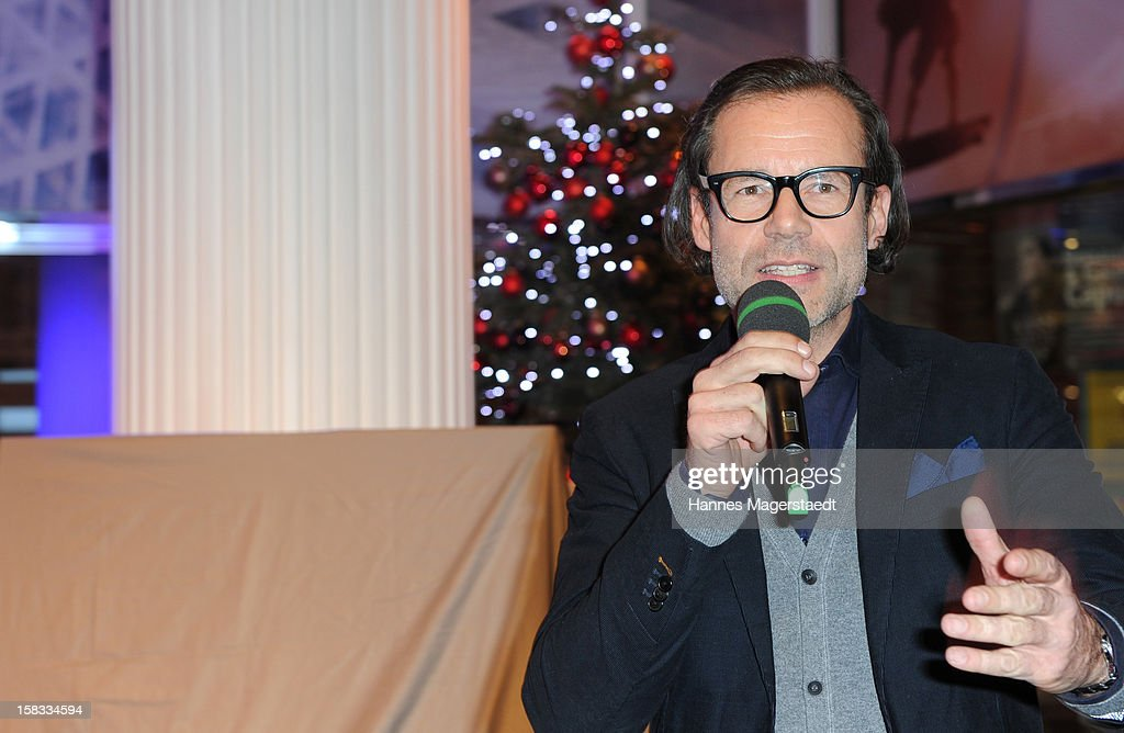 CEO of Marc O' Polo Andreas Baumgaertner attends the BMW Adventskalender opening with Hannes Jaenicke at the BMW Pavillion on December 13, 2012 in Munich, Germany.