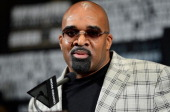 CEO of Mayweather Promotions Leonard Ellerbe speaks to the media during the final news conference for the bout between boxers Daniel Ponce De Leon...