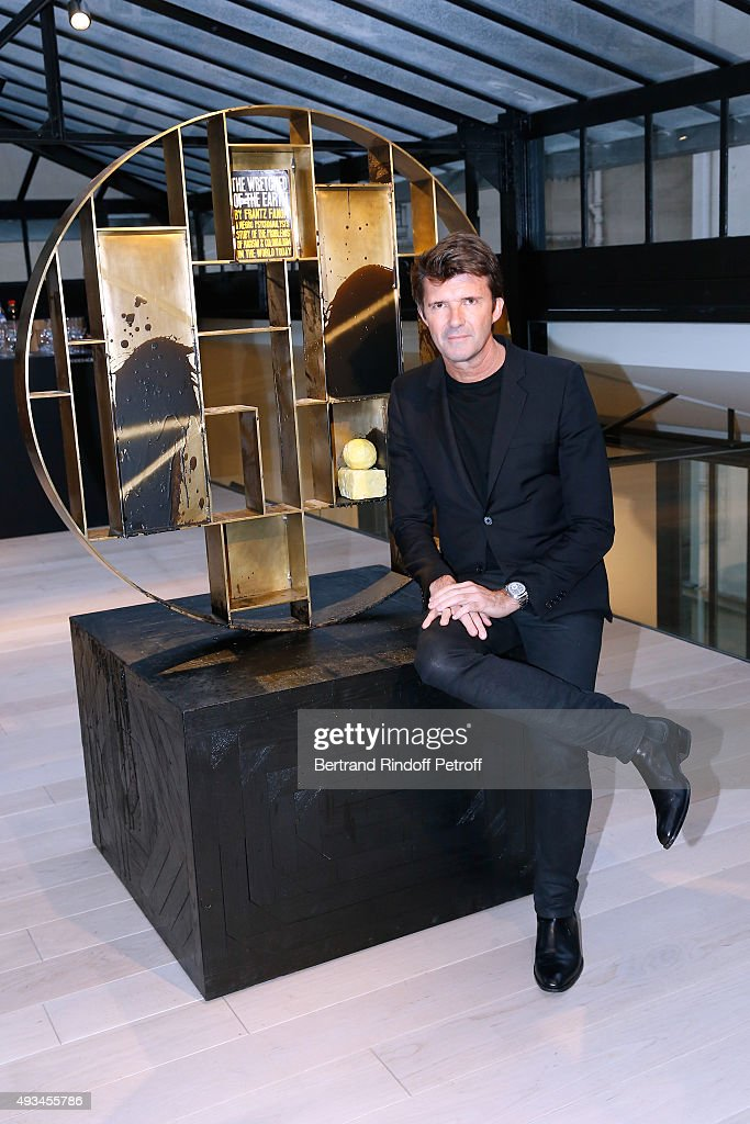 CEO of Mazarine Group and Founder of 'Studio des Acacias' Paul-Emmanuel Reiffers attends the 'New American Art', Exhibition of Artists Matthew Day Jackson and Rashid Johnson, Opening Cocktail at Studio des Acacias on October 20, 2015 in Paris, France.