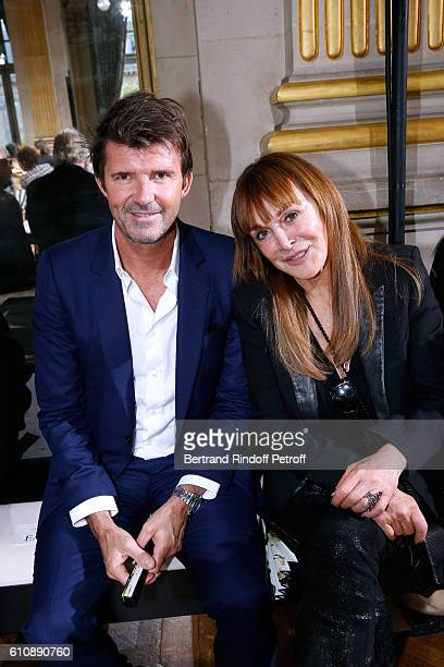 CEO of Mazarine Group PaulEmmanuel Reiffers and Babeth Djian attend the Lanvin show as part of the Paris Fashion Week Womenswear Spring/Summer 2017...