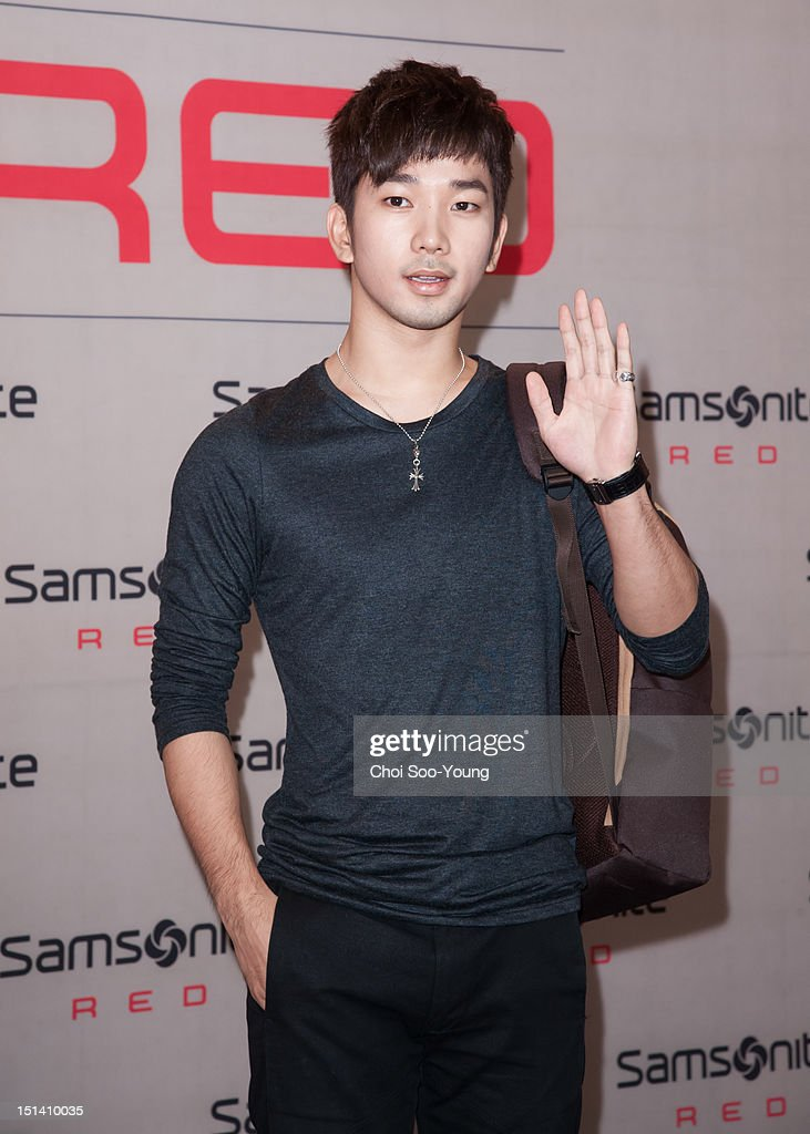 G.O of <a gi-track='captionPersonalityLinkClicked' href=/galleries/search?phrase=MBLAQ&family=editorial&specificpeople=7406534 ng-click='$event.stopPropagation()'>MBLAQ</a> attends 'Samsonite RED 2012 F/W Pop-up Exhibition' on August 23, 2012 in Seoul, South Korea.
