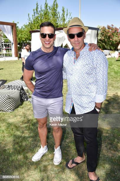 SVP of Media Relations for Republic Records Joseph Carozza and CEO of Republic Records Monte Lipman attend The Hyde Away hosted by Republic Records...