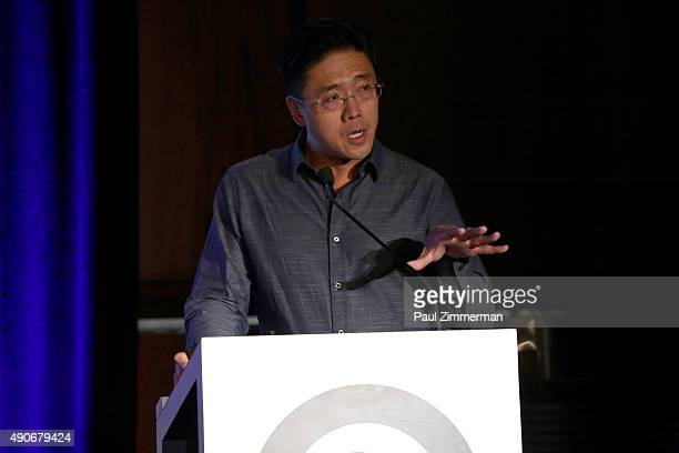 EVP of Media Solution Sales Rick Song speaks onstage at the A Crash Course in Influencer Marketing panel presented by ZEFR during Advertising Week...