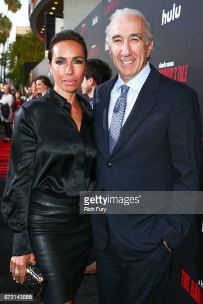 CEO of MGM Gary Barber and Nadine Barber attend the premiere of Hulu's 'The Handmaid's Tale' at ArcLight Cinemas Cinerama Dome on April 25 2017 in...
