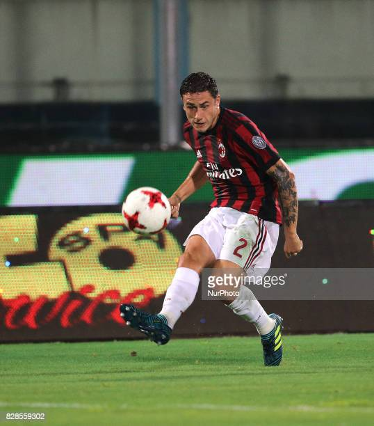 CALABRIA of Milan during the PreSeason Friendly match between AC Milan and Villareal at Stadio Angelo Massimino on August 9 2017 in Catania Italy