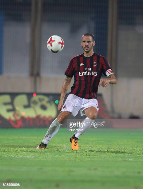 BONUCCI of Milan during the PreSeason Friendly match between AC Milan and Villareal at Stadio Angelo Massimino on August 9 2017 in Catania Italy