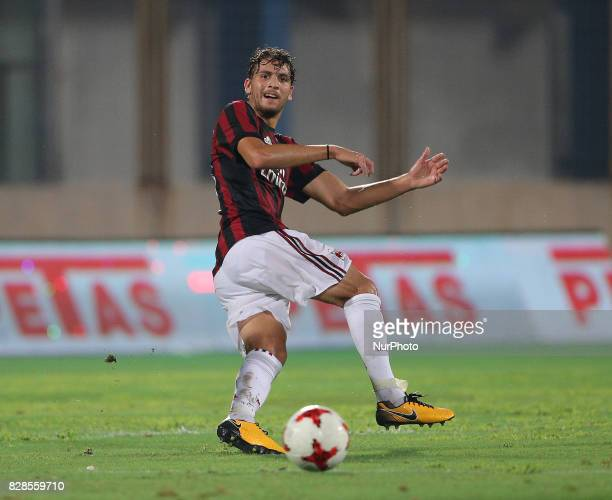 LOCATELLI of Milan during the PreSeason Friendly match between AC Milan and Villareal at Stadio Angelo Massimino on August 9 2017 in Catania Italy