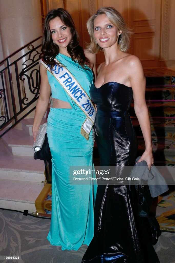 CEO of Miss France Company <a gi-track='captionPersonalityLinkClicked' href=/galleries/search?phrase=Sylvie+Tellier&family=editorial&specificpeople=2293780 ng-click='$event.stopPropagation()'>Sylvie Tellier</a> and Miss France 2013 Marine Lorphelin attend 'Global Gift Gala' at Hotel George V on May 13, 2013 in Paris, France.