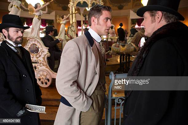 DRACULA 'Of Monsters and Men' Episode 106 Pictured Stephen Walters as Hackett Oliver JacksonCohen as Jonathan Harker Robert Bathurst as Lord Thomas...