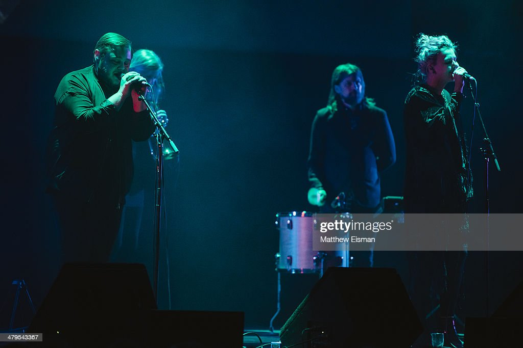 Of Monsters And Men performs at the 'Stopp - Let's Protect the Park' nature benefit concert at Harpa Concert Hall on March 18, 2014 in Reykjavik, Iceland.