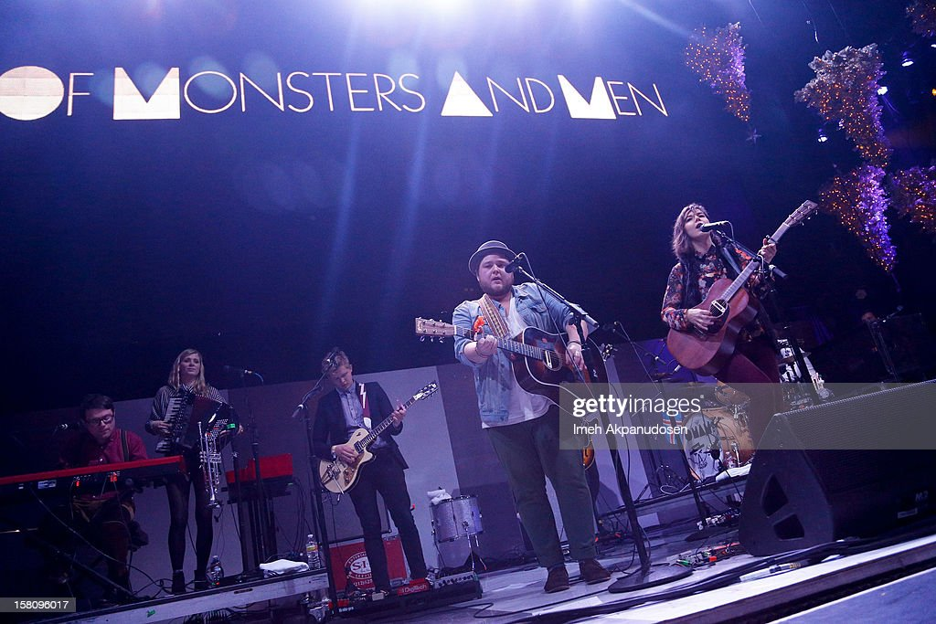 Of Monsters and Men performs onstage at the 23rd Annual KROQ Almost Acoustic Christmas at Gibson Amphitheatre on December 9, 2012 in Universal City, California.
