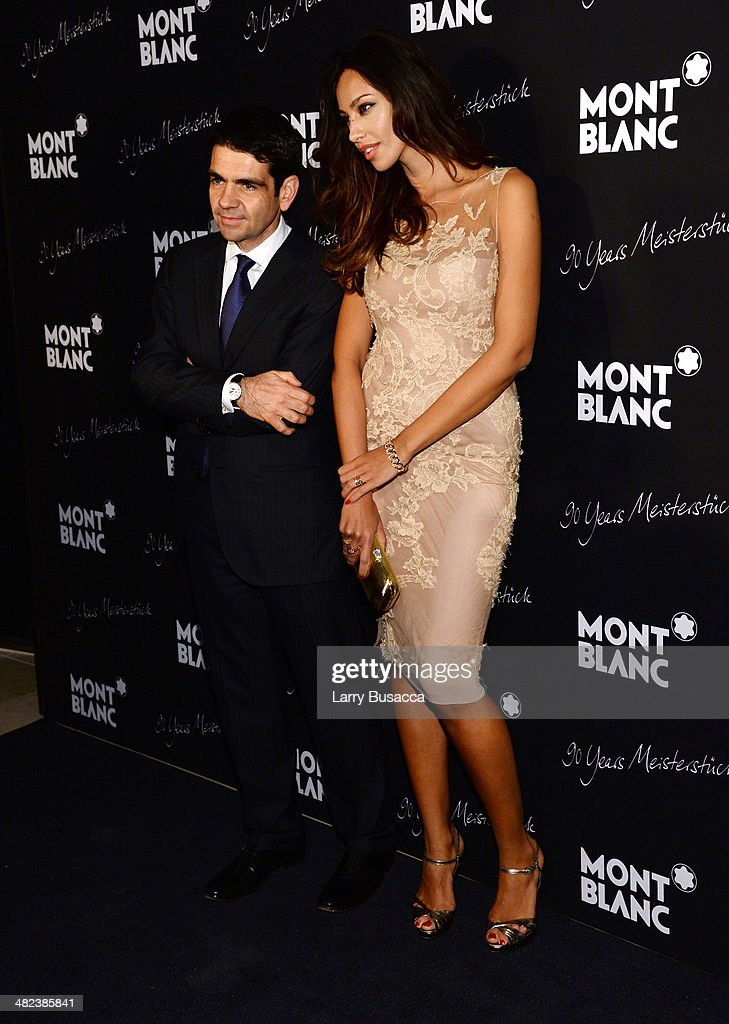 CEO of Montblanc International Jerome Lambert and actress and model Madalina Ghenea attend Montblanc Celebrates 90 Years of the Iconic Meisterstuck...