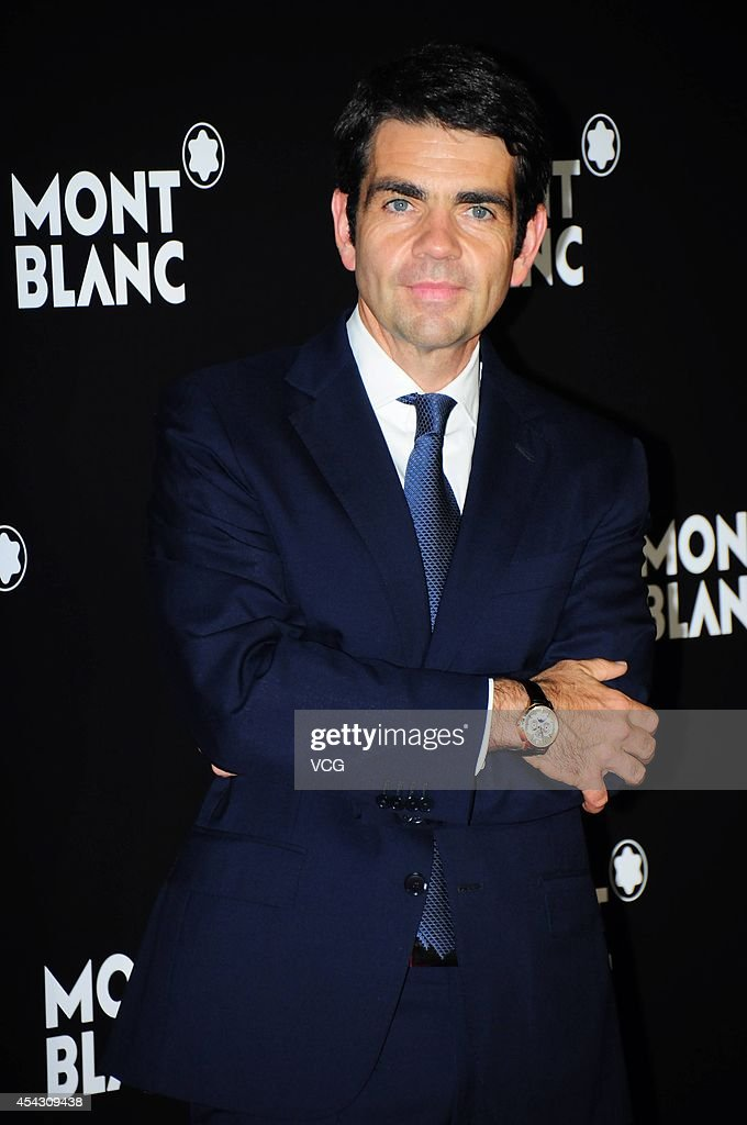 CEO of Montblanc International Jerome Lambert attends the Montblanc Boheme Collection launch event at The Peninsula Shanghai on August 28 2014 in...