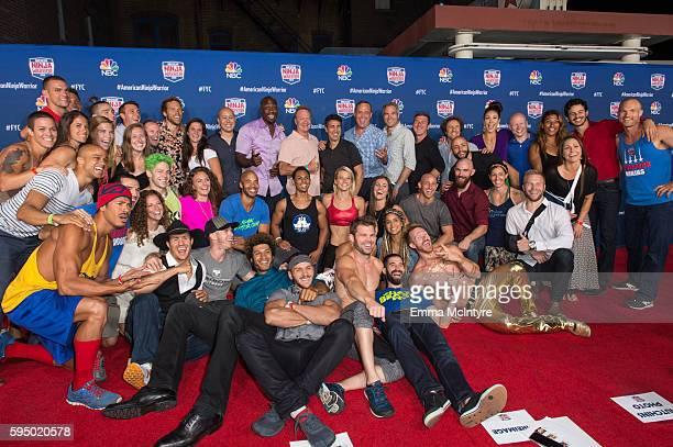 SVP of NBC Alternative Programming Brandon Riegg host Akbar Gbajabiamila executive producers Kent Weed and Arthur Smith host Matt Iseman VP of NBC...