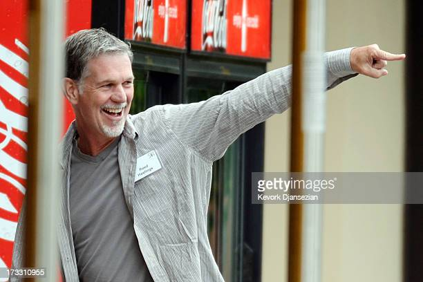 CEO of Netflix Reed Hastings attends the Allen Co annual conference at the Sun Valley Resort on July 11 2013 in Sun Valley Idaho The resort is...