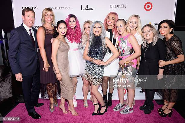 CEO of NYX Cosmetics Scott Friedman Senior Vice President Marketing Global Business Development NYX Cosmetics Nathalie Kristo finalists Laura Sanchez...
