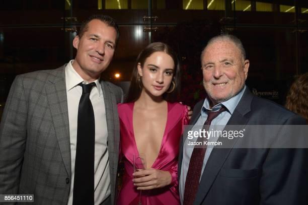 VP of Original Films at Netflix Scott Stuber Grace Van Patten and Sandy Wernick attend the New York Film Festival screening of The Meyerowitz Stories...