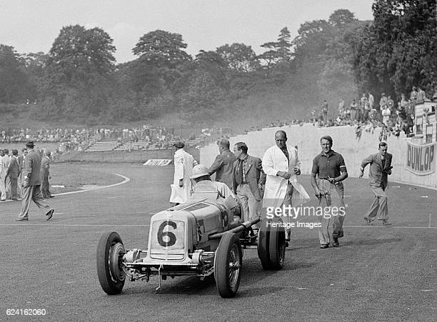 ERA of P Aitken at Crystal Palace London 1939 Artist Bill BrunellERA 1488S cc Event Entry No 6 Driver Aitken Hon P Place Crystal Palace Race Meeting...