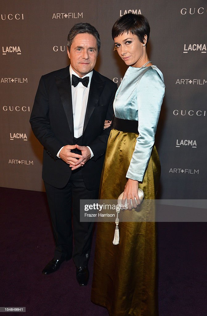 CEO of Paramount Pictures Brad Grey (L) and Cassandra Huysentruyt Grey arrive at LACMA 2012 Art + Film Gala Honoring Ed Ruscha and Stanley Kubrick presented by Gucci at LACMA on October 27, 2012 in Los Angeles, California.
