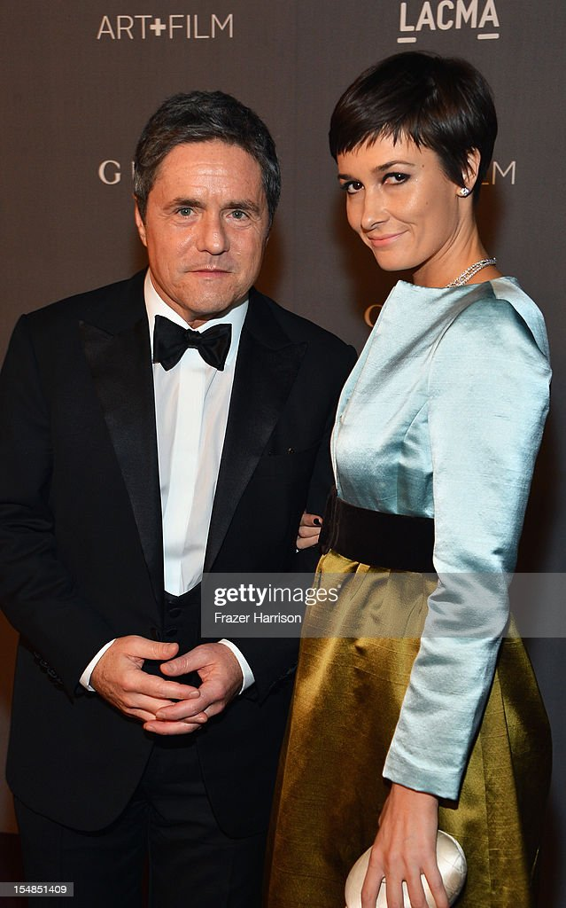 CEO of Paramount Pictures Brad Grey and Cassandra Huysentruyt Grey arrive at LACMA 2012 Art + Film Gala Honoring Ed Ruscha and Stanley Kubrick presented by Gucci at LACMA on October 27, 2012 in Los Angeles, California.