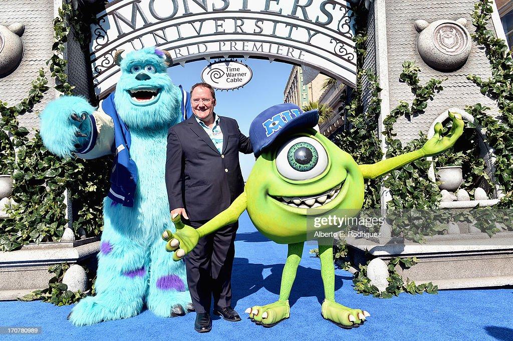 COO of Pixar/Walt Disney Animation Studios John Lasseter attends The World Premiere Tailgate Party for DisneyPixar's 'Monsters University' at the El...