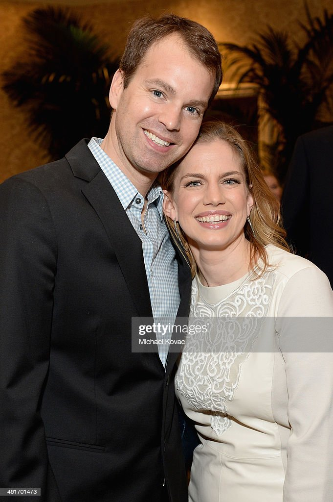 HBO EVP of Programming Casey Bloys and Anna Chlumsky attend the 14th annual AFI Awards Luncheon at the Four Seasons Hotel Beverly Hills on January 10, 2014 in Beverly Hills, California.