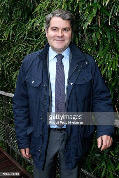 CEO of Publicis Events Franck Louvrier attends Day Eleven of the 2016 French Tennis Open at Roland Garros on June 1 2016 in Paris France
