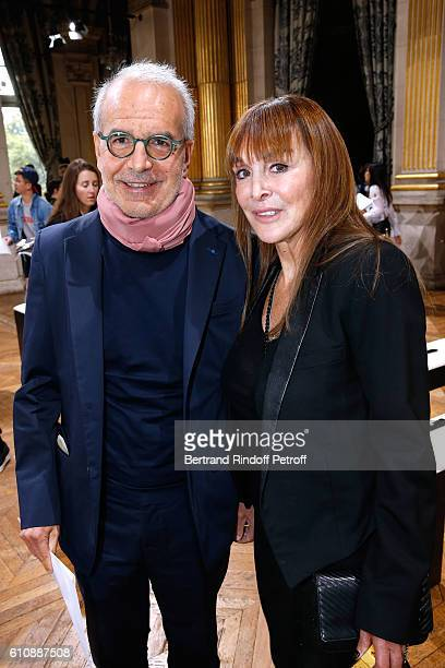 CEO of Puig Fashion Division and President of the French Federation of couture and readytowear Ralph Toledano and Babeth Djian attend the Lanvin show...