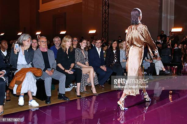 CEO of Puig Fashion Division and President of the French Federation of couture and readytowear Ralph Toledano Virginie Mouzat Laetitia Casta Manuel...