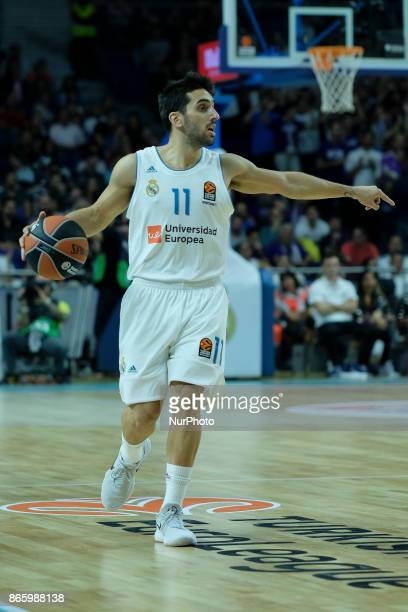 CAMPAZZO of Real Madrid during the 2017/2018 Turkish Airlines Euroleague Regular Season Round 3 game between Real Madrid v AX Armani Exchange Olimpia...