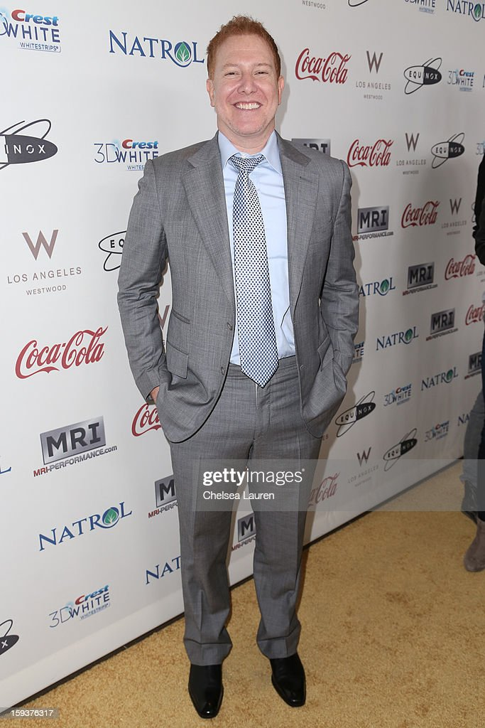 CEO of Relativity Media Ryan Kavanaugh arrives at CW3PR Presents 'Gold Meets Golden' at Equinox Sports Club on January 12, 2013 in Los Angeles, California.