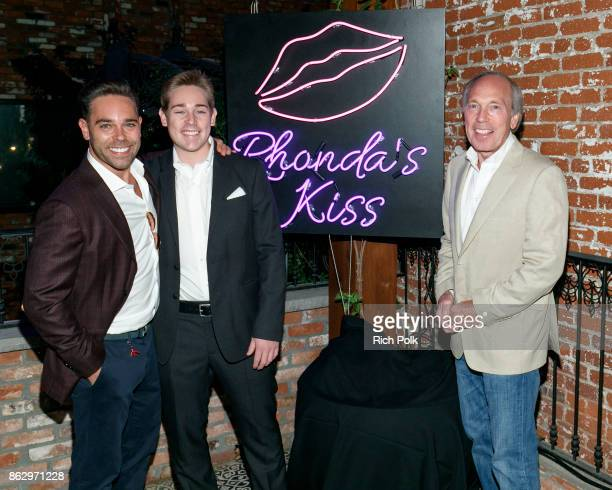 CEO of Rhonda's Kiss Charity Kyle Stefanski Alex Stefaski and Chairman of Rhonda's Kiss Charity Marc A Stefanski attend An Evening With Rhonda's Kiss...