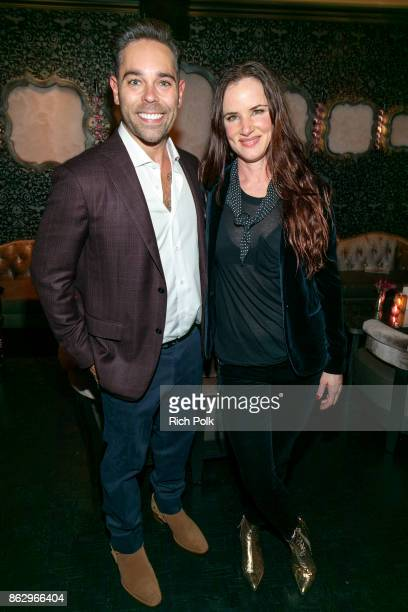 CEO of Rhonda's Kiss Charity Kyle Stefanski and actress/singer Juliette Lewis attend An Evening With Rhonda's Kiss Charity at Beauty Essex on October...