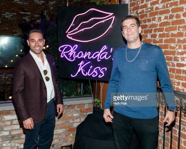 CEO of Rhonda's Kiss Charity Kyle Stefanski and Mike Young attend An Evening With Rhonda's Kiss Charity at Beauty Essex on October 18 2017 in Los...