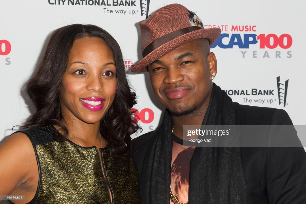 VP of Rhythm & Soul/Urban Membership Nicole George-Middleton (L) and recording artist <a gi-track='captionPersonalityLinkClicked' href=/galleries/search?phrase=Ne-Yo&family=editorial&specificpeople=451543 ng-click='$event.stopPropagation()'>Ne-Yo</a> attends ASCAP's 2014 Grammy Nominee Brunch at SLS Hotel on January 25, 2014 in Beverly Hills, California.
